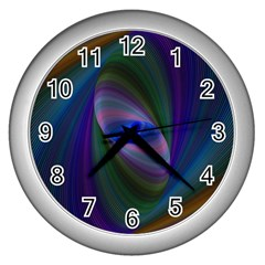 Ellipse Fractal Computer Generated Wall Clocks (silver)