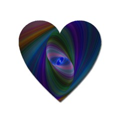 Ellipse Fractal Computer Generated Heart Magnet by Amaryn4rt