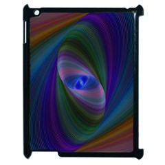 Ellipse Fractal Computer Generated Apple Ipad 2 Case (black) by Amaryn4rt
