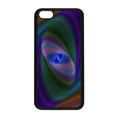 Ellipse Fractal Computer Generated Apple Iphone 5c Seamless Case (black)