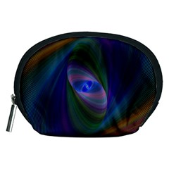 Ellipse Fractal Computer Generated Accessory Pouches (medium)  by Amaryn4rt