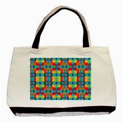 Pop Art Abstract Design Pattern Basic Tote Bag (two Sides)
