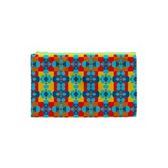 Pop Art Abstract Design Pattern Cosmetic Bag (xs) by Amaryn4rt