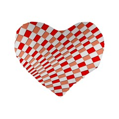 Graphics Pattern Design Abstract Standard 16  Premium Heart Shape Cushions