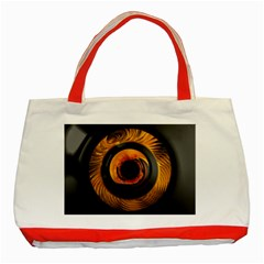 Fractal Mathematics Abstract Classic Tote Bag (red)