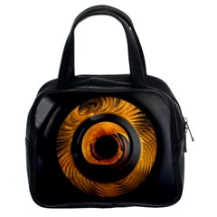 Fractal Mathematics Abstract Classic Handbags (2 Sides) by Amaryn4rt