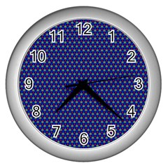 Fractal Art Honeycomb Mathematics Wall Clocks (silver)  by Amaryn4rt