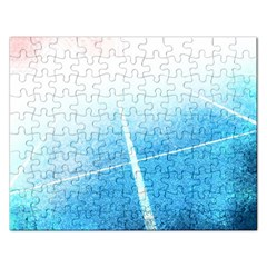 Court Sport Blue Red White Rectangular Jigsaw Puzzl by Amaryn4rt