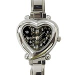 Fractal Math Geometry Backdrop Heart Italian Charm Watch Front