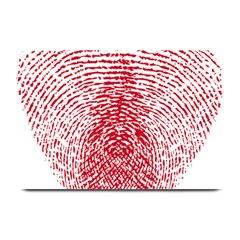 Heart Love Valentine Red Plate Mats