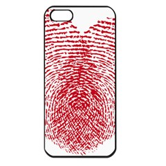 Heart Love Valentine Red Apple Iphone 5 Seamless Case (black)