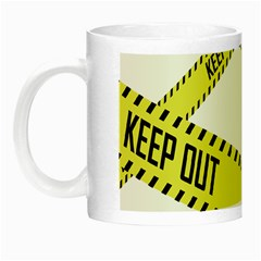 Keep Out Police Line Yellow Cross Entry Night Luminous Mugs