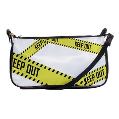 Keep Out Police Line Yellow Cross Entry Shoulder Clutch Bags