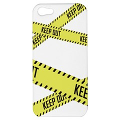 Keep Out Police Line Yellow Cross Entry Apple Iphone 5 Hardshell Case by Alisyart