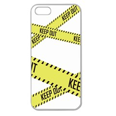 Keep Out Police Line Yellow Cross Entry Apple Seamless Iphone 5 Case (clear)