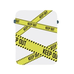Keep Out Police Line Yellow Cross Entry Apple Ipad 2/3/4 Protective Soft Cases