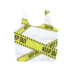 Keep Out Police Line Yellow Cross Entry Full Print Recycle Bags (s)