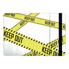 Keep Out Police Line Yellow Cross Entry Samsung Galaxy Tab Pro 10 1  Flip Case