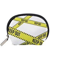 Keep Out Police Line Yellow Cross Entry Accessory Pouches (small)