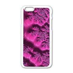 Fractal Artwork Pink Purple Elegant Apple Iphone 6/6s White Enamel Case by Amaryn4rt