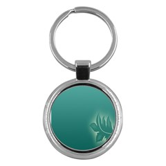 Leaf Green Blue Branch  Texture Thread Key Chains (round)
