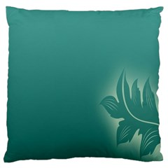 Leaf Green Blue Branch  Texture Thread Large Cushion Case (one Side) by Alisyart