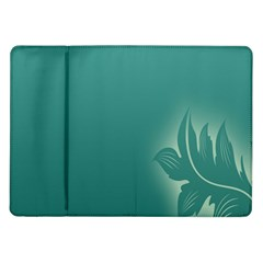 Leaf Green Blue Branch  Texture Thread Samsung Galaxy Tab 10 1  P7500 Flip Case