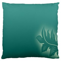Leaf Green Blue Branch  Texture Thread Standard Flano Cushion Case (one Side)