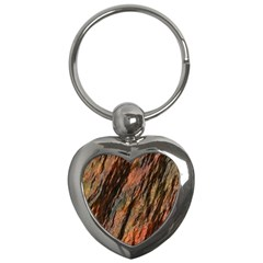 Texture Stone Rock Earth Key Chains (heart)  by Amaryn4rt