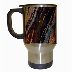Texture Stone Rock Earth Travel Mugs (white) by Amaryn4rt
