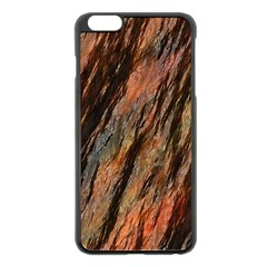 Texture Stone Rock Earth Apple Iphone 6 Plus/6s Plus Black Enamel Case by Amaryn4rt
