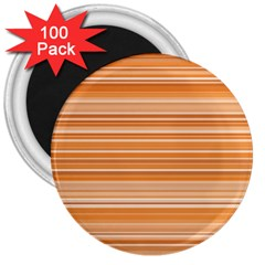 Line Brown 3  Magnets (100 Pack) by Alisyart