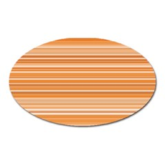 Line Brown Oval Magnet