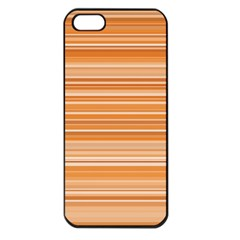 Line Brown Apple Iphone 5 Seamless Case (black)
