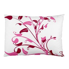 Leaf Pink Floral Pillow Case (two Sides)