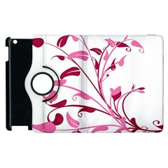 Leaf Pink Floral Apple Ipad 3/4 Flip 360 Case by Alisyart