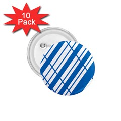 Line Blue Chevron 1 75  Buttons (10 Pack)