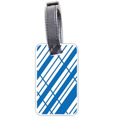 Line Blue Chevron Luggage Tags (two Sides)