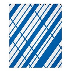 Line Blue Chevron Shower Curtain 60  X 72  (medium)