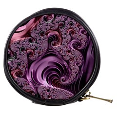 Purple Abstract Art Fractal Art Fractal Mini Makeup Bags by Amaryn4rt