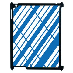 Line Blue Chevron Apple Ipad 2 Case (black)