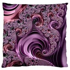 Purple Abstract Art Fractal Art Fractal Large Cushion Case (two Sides) by Amaryn4rt