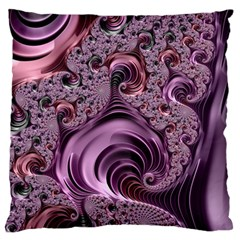 Purple Abstract Art Fractal Art Fractal Standard Flano Cushion Case (one Side) by Amaryn4rt