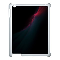 Lines Dark Sky Space Blue Apple Ipad 3/4 Case (white)