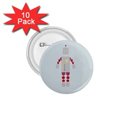 Machine Engine Robot 1 75  Buttons (10 Pack)