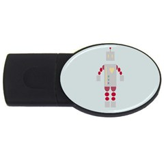 Machine Engine Robot Usb Flash Drive Oval (4 Gb)