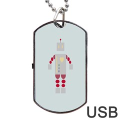 Machine Engine Robot Dog Tag Usb Flash (two Sides)