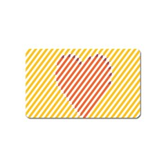 Little Valentine Pink Yellow Magnet (name Card)