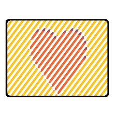 Little Valentine Pink Yellow Fleece Blanket (small)