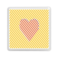 Little Valentine Pink Yellow Memory Card Reader (square)